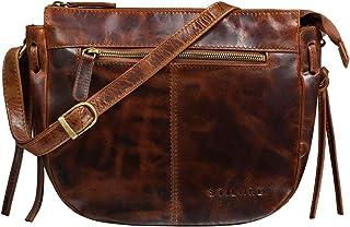 """STILORD Bella"""" Lederhandtasche Damen Echtleder Vintage Handtasche Klein Abendtasche Partytasche zum Ausgehen Umhängetasche mit Reißverschluss Echtes Leder"""
