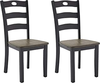 Best Signature Design by Ashley Froshburg Dining Room Chair, Grayish Brown/Black Review