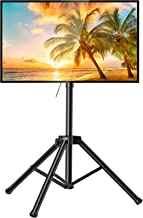 PERLESMITH TV Tripod Stand-Portable TV Stand for 37-75 Inch LED LCD OLED Flat Screen TVs-Height Adjustable Display Floor T...