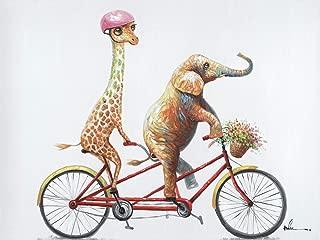 elephant and giraffe art