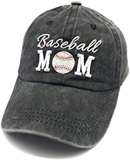 Waldeal Embroidered Unstructured Baseball Mom Vintage Jeans Adjustable Ballcap Cotton Denim Dad Hat Gift for Mom/Grandma