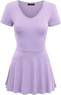 MBJ Womens Lightweight Short Sleeve Peplum Top/Dress - Made in USA