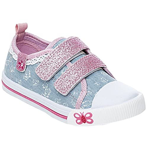 f62b7832d Girls Children Kids Canvas Toddlers Shoes Summer Pumps Casual Infants  Trainers Flat Low Top Velcro Touch