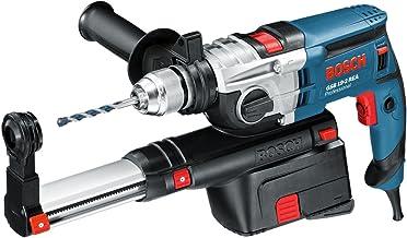 Bosch Professional GSB 19-2 REA - Taladro percutor (900 W, 0 – 1000 / 3000 rpm, Ø max perforación hormigón 18 mm, sistema aspiración, en maletín)