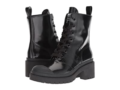 Marc Jacobs Bristol Laced-Up Boot (Black 1) Women