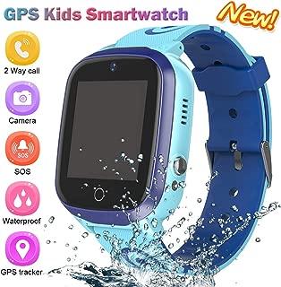 Kids Smart Watch for Boys Smartwatch WiFi/GPS Tracker Watch, Kids GPS Tracker Watch Activity Tracker Digital Watch, Touch Screen HD Camera Pedometer SOS Math Game Watch for Boys Girls School Gift