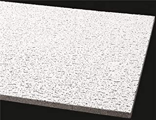 Armstrong World Industries BPGR755B Armstrong Acoustical Ceiling Panel 755B Fissured Square Lay in, 24X48X5/8 in, 12per Case - 296367