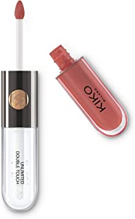 KIKO Milano Unlimited Double Touch 103 | Vloeibare lippenstift in 2 stappen, glanzende finish. Blijft tot 12 uur zitten. G...