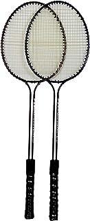 N M Z Double-Shaft Steel Badminton Racquet Set