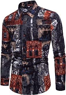 Men Shirt Casual Joker Fashion Business Print Shirt Slim Long Sleeve Shirt