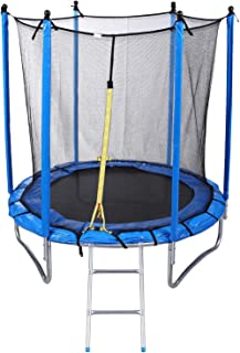 Round Trampoline with Safety Net and Ladder, 137 cm
