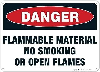 no smoking or open flames