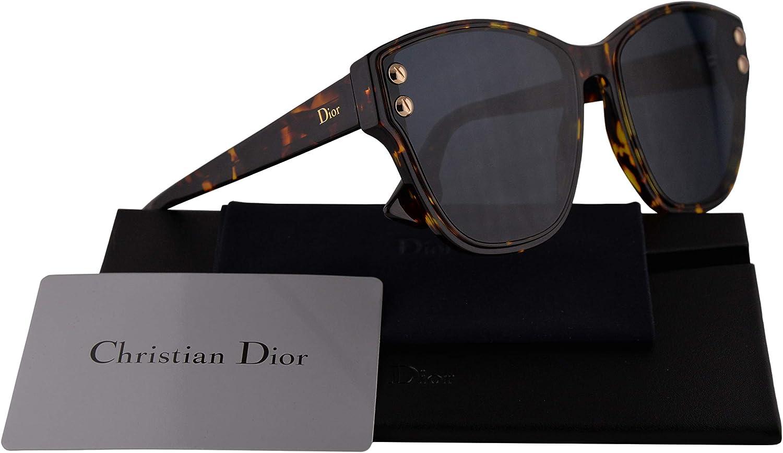 Christian Dior DiorAddict 3 Sunglasses Brown Yellow Havana w bluee Lens P65A9 Addict 3