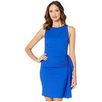 Laundry by Shelli Segal Ruched Dress with Ruffle (Brilliant Blue) Women