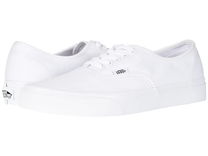 Mens Retro Shoes | Vintage Shoes & Boots Vans Authentictm Core Classics True White Skate Shoes $49.95 AT vintagedancer.com