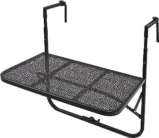 CHY Table de balcon à suspendre réglable et pliable - Table de salle à manger pour ordinateur portable - Couleur : rose