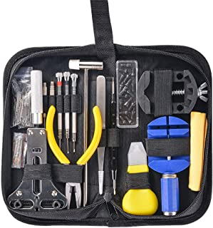 Hivexagon Kit de Réparation Montres de 151 Pièces pour Changer Le Bracelet ou Ouvrir Le Boîtier d'une Montre Kit Professio...