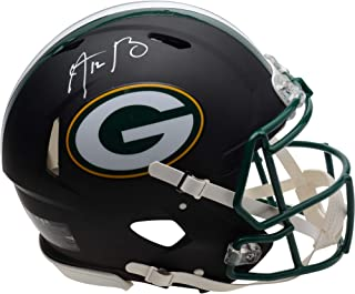 Aaron Rodgers Green Bay Packers Autographed Riddell Black Matte Alternate Speed Authentic Helmet - Fanatics Authentic Certified