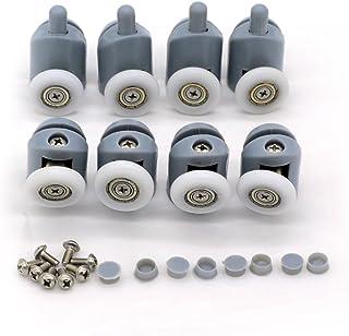 comprar comparacion 8 rodamientos para raíles de mampara de ducha, 20-27 mm.