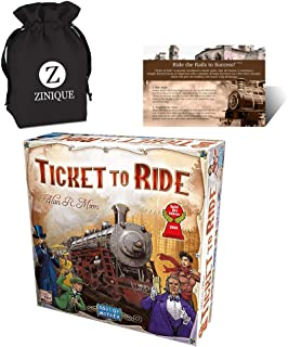 Ticket to Ride Board Game for Kids and Adults – Includes Ticket to Ride, Strategy Guide and Drawstring Storage Bag – Premi...