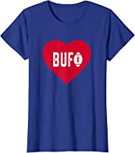 Womens Cute I Love Buffalo Football Heart BUF T-Shirt