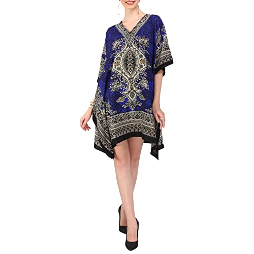 433c6c7bdbe3a Miss Lavish Women's Kaftan Tunic Kimono Dress Summer Evening Plus Size Beach  Cover Up 10-