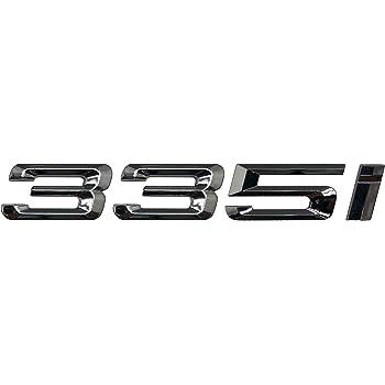 Chrome argent/é 325i Insigne de voiture mod/èle embl/ème chiffres lettres pour 3 Series E36 E46 E90 E91 E92 E93 F30 F31 F34 G20