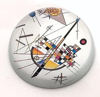Mondrian/ /con cupola in vetro fermacarte /Composizione con piano rosso grande/