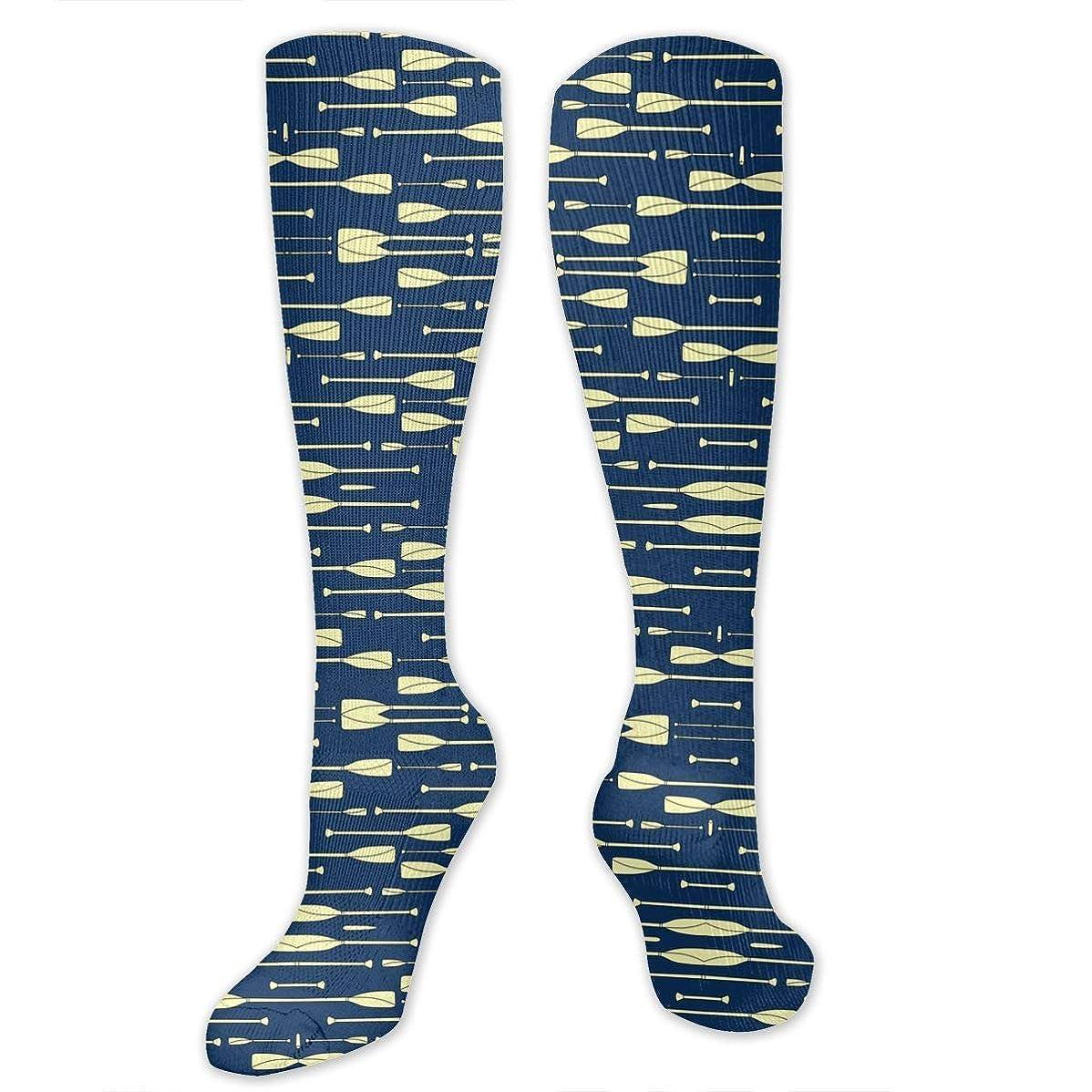 ナプキン近代化バーベキュー靴下,ストッキング,野生のジョーカー,実際,秋の本質,冬必須,サマーウェア&RBXAA Rowing Oars Navy and Cream Socks Women's Winter Cotton Long Tube Socks Cotton Solid & Patterned Dress Socks