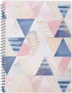 """Mead Spiral Notebook, 1 Subject, College Ruled Paper, 70 Sheets, 10-1/2"""" x 7-1/2"""", Shape It Up, Design Will Vary, 1 Notebo..."""