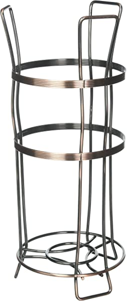 Richards Homewares Bronze Toilet Paper Holder Stand Flat Wire Paper Reserve For Bathroom Free Standing Holds 3 Rolls Rust Free Sturdy Metal