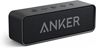 Anker SoundCore Bluetooth Speaker with 24-Hour Playtime 66-Foot Bluetooth Range & Built-in Mic Dual-Driver Portable Wireless Speaker with Low Harmonic Distortion and Superior Sound (Black)