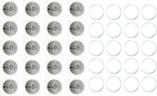 Rewritable Adhesive NFC Tags 215 (20) Compatible with TagMo, and Amiibo. 20 Fully programmable ntag Stickers are Compatibl...