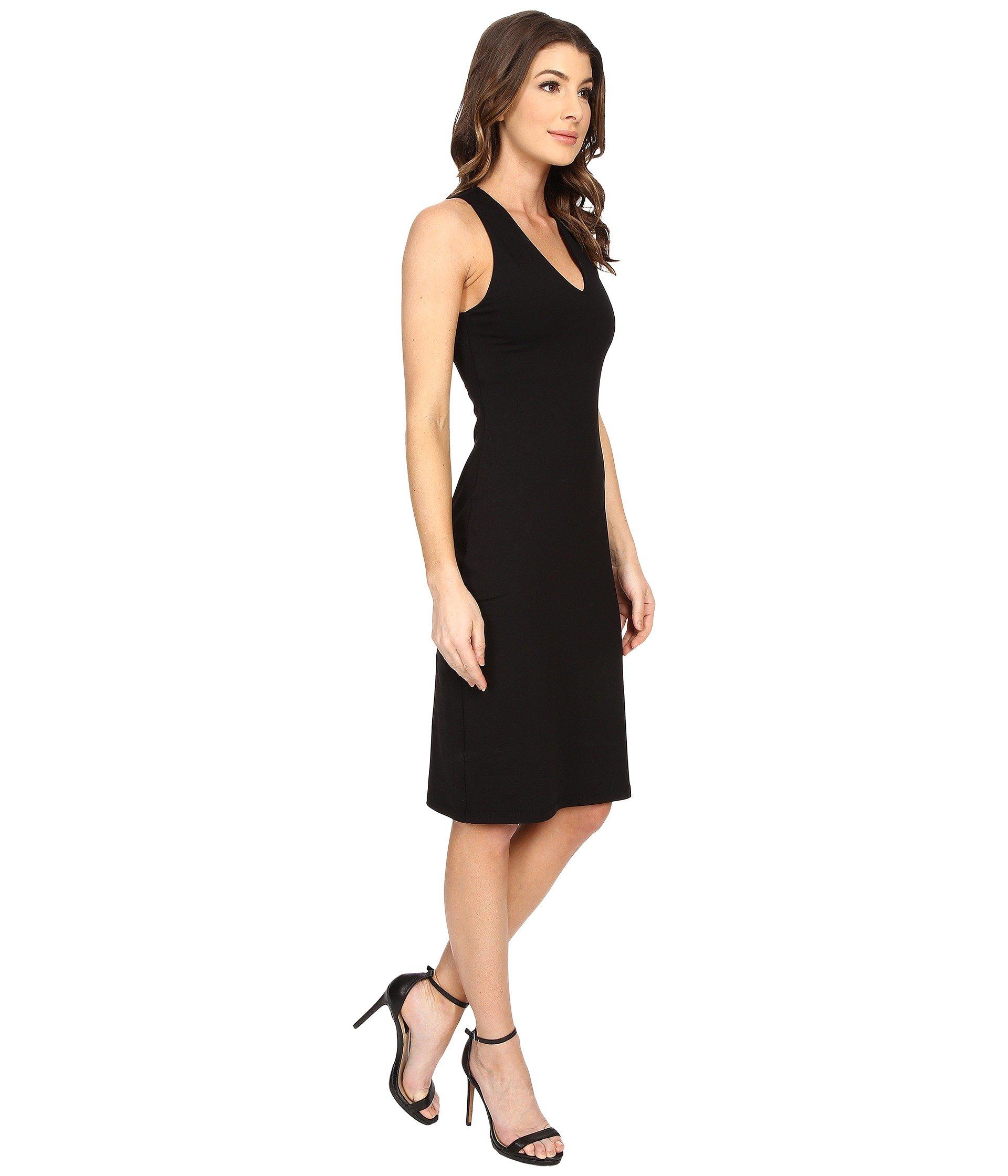 Susana monaco black racerback maxi dress