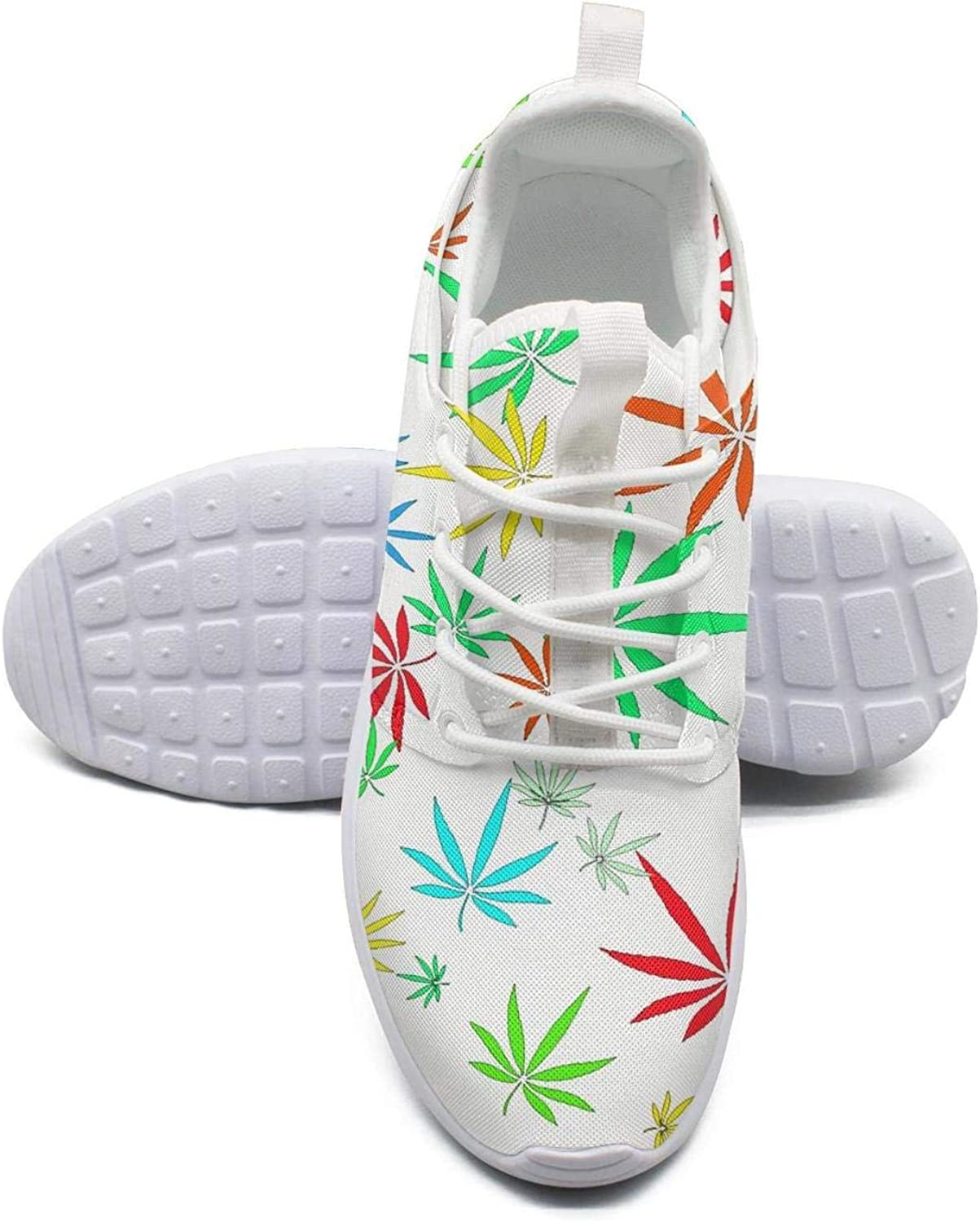 Gjsonmv Marijuana Weed Leaf mesh Lightweight shoes Women Dad Sports Workout Sneakers shoes