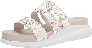 Cole Haan Women's 2.Zerogrand Slotted Slide Sandal, IVORY ROCCIA/OPTIC WHITE, 10