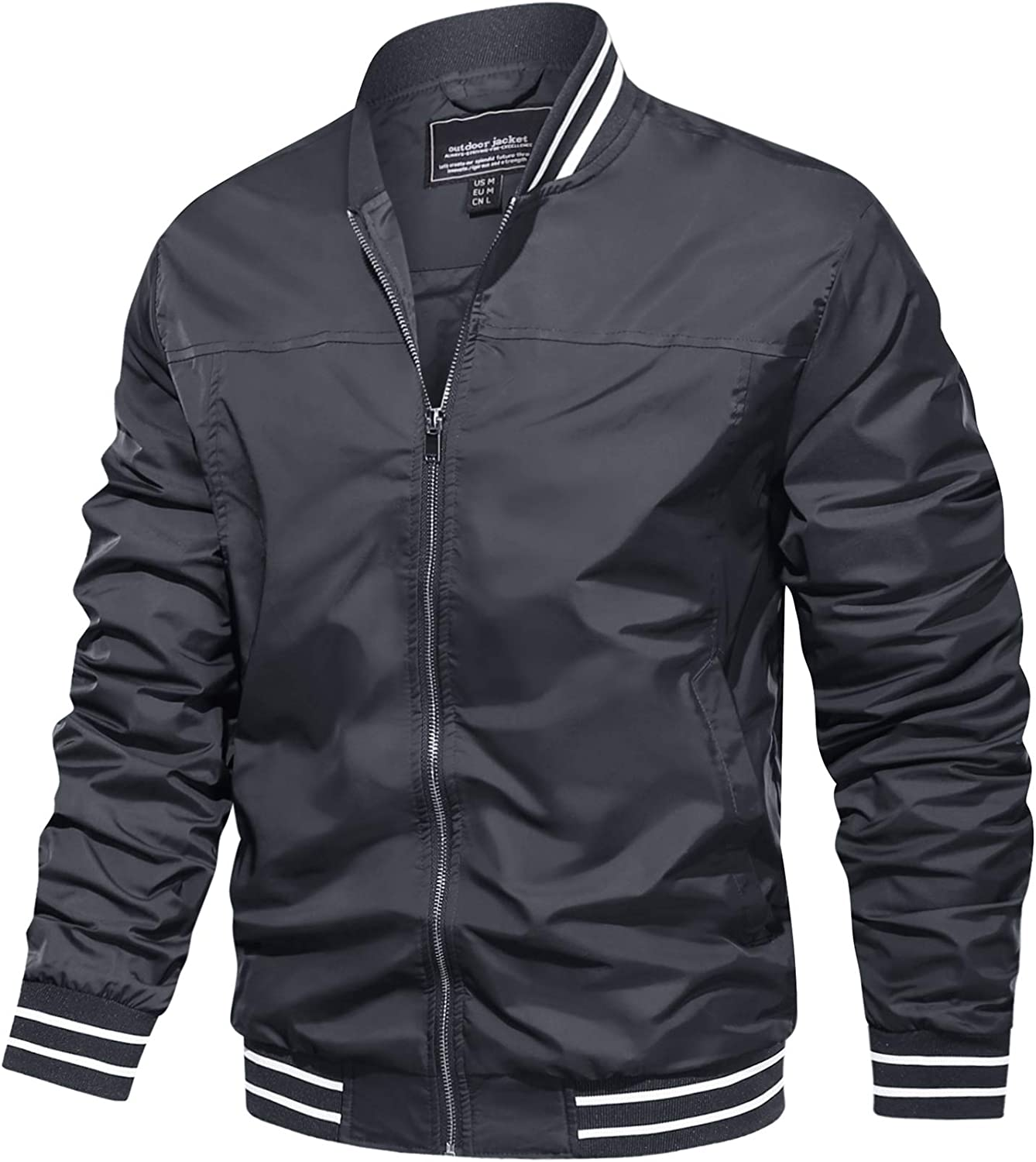 TACVASEN Men's Tampa Mall Bomber Jackets Popular shop is the lowest price challenge Fal Spring Windbreaker Lightweight