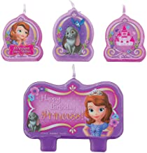 Fun Express - Sofia The First Candle Set (4pc) for Birthday - Party Supplies - Licensed Tableware - Misc Licensed Tableware - Birthday - 4 Pieces