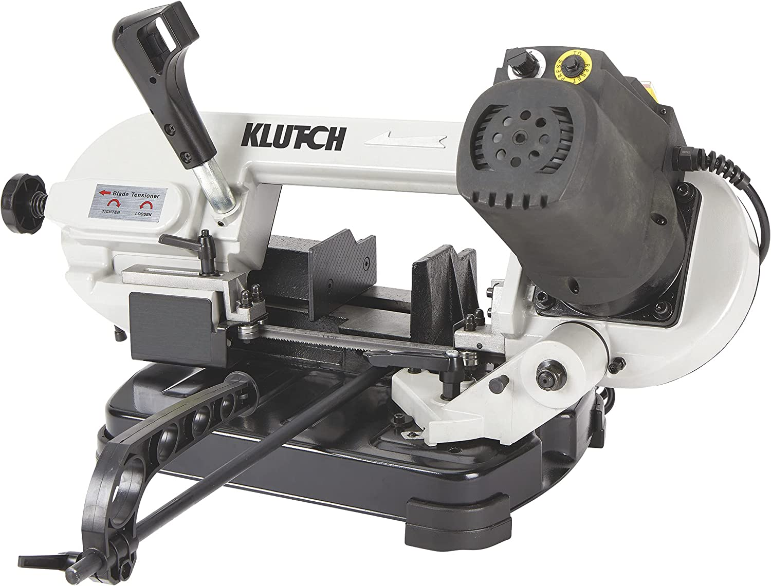 Klutch Benchtop Metal Cutting Band Saw - 5in. x 4 7/8in, 400 Wat