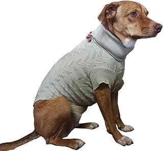 Roupa cachorro,pet, Dog Tricot mod.CLASIC TRABALHADO,estilosa,fofinho,quentinho, NUDE