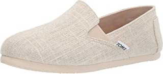 TOMS Women`s Redondo Loafer Flat natural metallic slubby woven 8 B Medium US