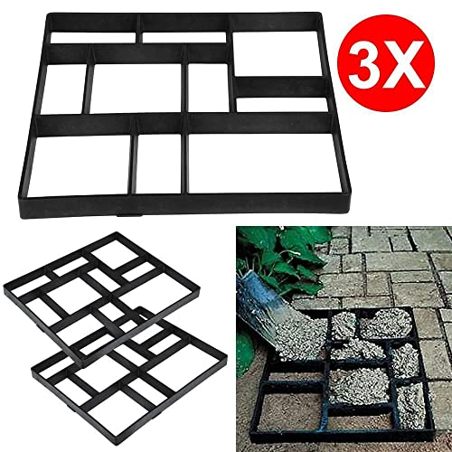 Furniture New Fashion Garden Concrete Paving Mold For Pavement Walkways Outdoor Improvements Plaster Shape Paver Concrete Plaster Molding Elegant Shape