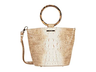 Brahmin Ombre Melbourne Mod Bowie Satchel (Praline) Handbags