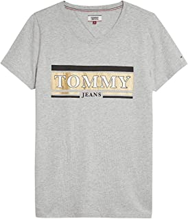 Tommy Hilfiger T-Shirts For Women, Light Grey M