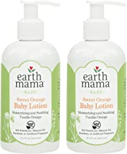 Earth Mama Sweet Orange Baby Lotion with Organic Calendula, 8-Fluid Ounce, 2-Pack