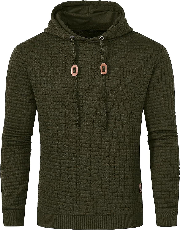 Men's Casual Pullover Hoodies Long Sleeve Hooded Sweatshirts