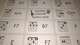 23 laminated Guitar Chords Music Flashcards.