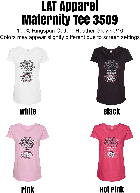 HARD EDGE DESIGN Women's Living in Alaska with Arkansas Roots T-Shirt