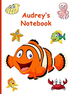 Audrey's Notebook: 7.44 X 9.69, 160 Wide-Ruled Pages