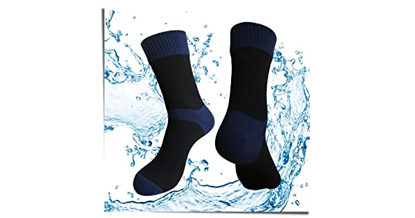 SGS Certified Best Valued Waterproof Socks for Men /& Women- Coolmax//Copper Cushion Crew Cycling, Running, Hiking Boots Socks HIGHCAMP